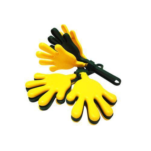 Bate Palma Amarelo e Verde - Pacote com 8 Unidades