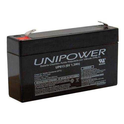 Bateria 6v 1,3a Selada Up613 Unipower