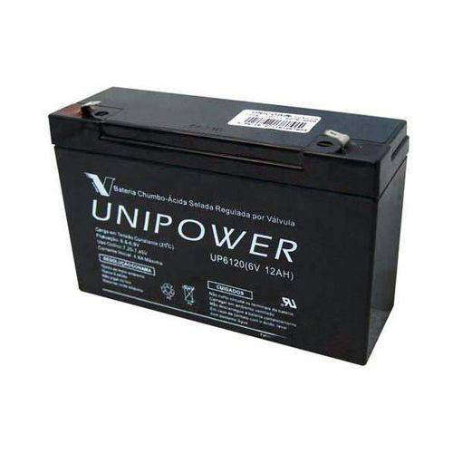 Bateria 6v 12a Selada Up6120 Unipower