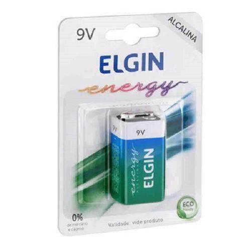 Bateria 9v Alcalina 6lr61 Elgin Inmetro - Blister