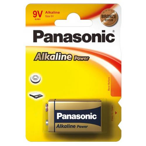 Bateria 9v Alcalina Panasonic - 6lf22xab/1b