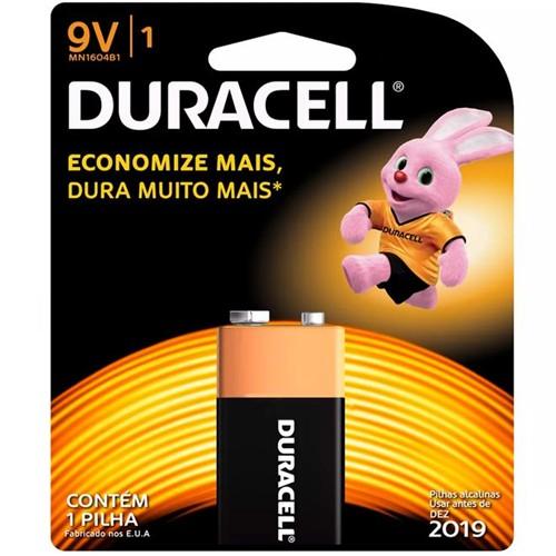 Bateria Alcalina 9V com 1 Unid. MN-1604 - Duracell