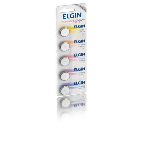 Bateria de Lítio Elgin CR2032 3V Blister com 5 Un 82193