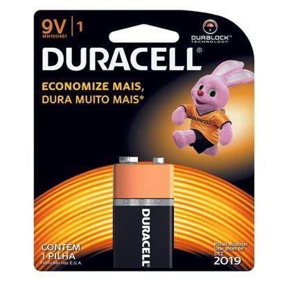 Bateria Duracell 9v com 1 Un.