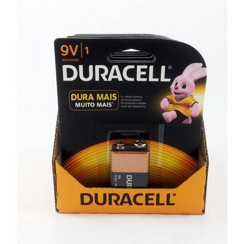 Bateria Duracell 9v - Kit C/12 Unidades