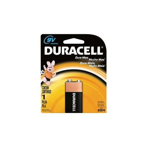 Bateria Duracell Alcalina Retangular 9 Volts Mn1604 B Unidade