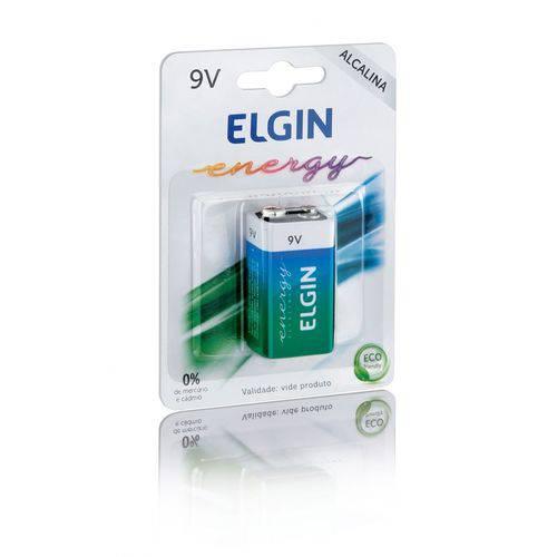 Bateria Elgin 9v Alcalina Pilha Caixa com 10pçs