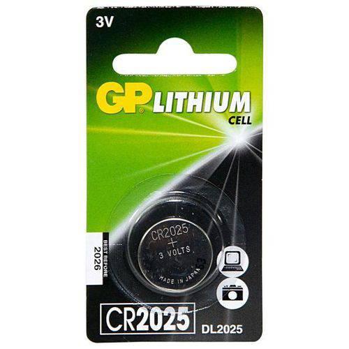 Bateria Gp Cr2025-7c1 de Lítio 3v