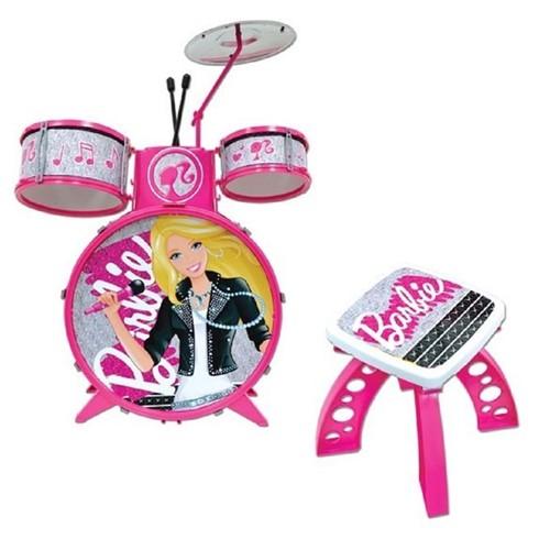 Bateria Infantil Luxo Barbie - FUN