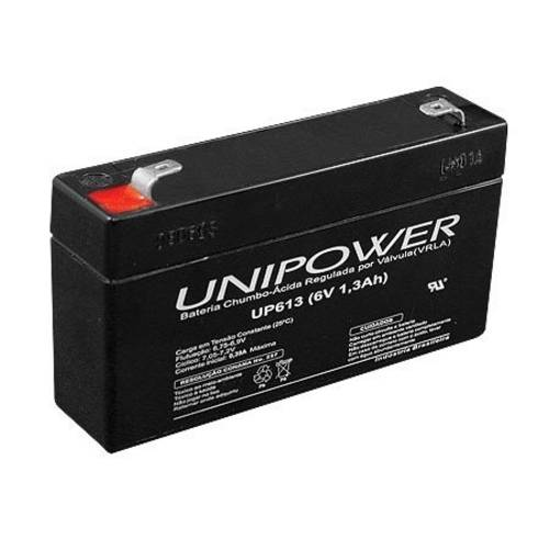Bateria Multiuso 6v 1,3a Selada Up613 Unipower
