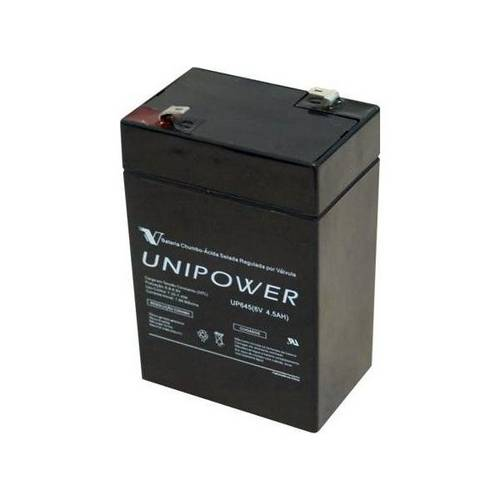 Bateria Multiuso Up645 6v 4,5a Selada Unipower