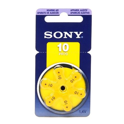 Bateria para Aparelho Auditivo Sony PR10 com 6 Unidades