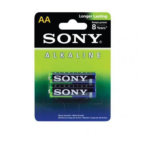 Bateria Pilha Alcalina Pequena AA com 2 Sony