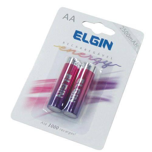 Bateria Recarregável Elgin AA C/ 2 Uni