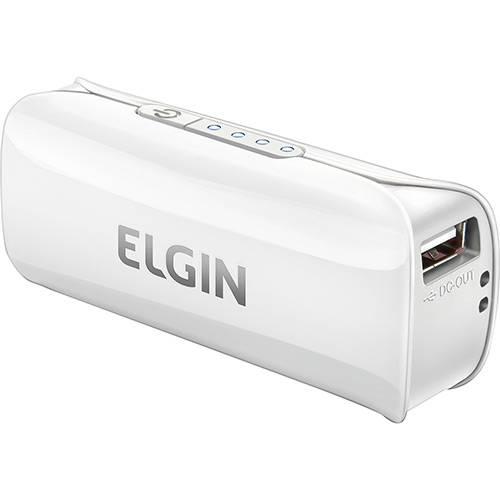Bateria Recarregável Power Bank Elgin CPUSB2600 Branco
