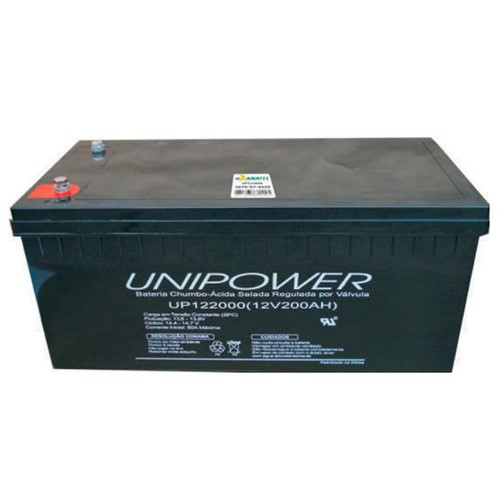 Bateria Selada VRLA 12V 200AH M8 UP122000 RT 06C071 - Unipower