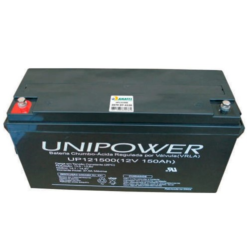 Bateria Selada VRLA 12V 150AH M8 UP121500 RT 06C067 - Unipower