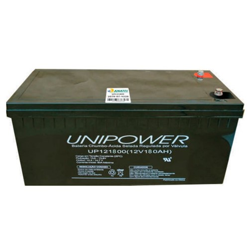 Bateria Selada VRLA 12V 180AH M8 UP121800 RT 06C069 - Unipower