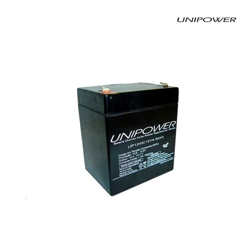 Bateria Selada Vrla 12v 4,5ah Up1245 Unipower - Bateria Selada Vrla 12v 4,5ah Up1245 Unipower