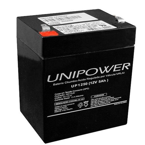 Bateria Selada VRLA 12V 5,0Ah F187 UP1250 – Unipower