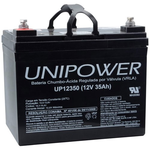 Bateria Selada VRLA 12V 35,0AH M6 UP12350 RT 06C041 - Unipower