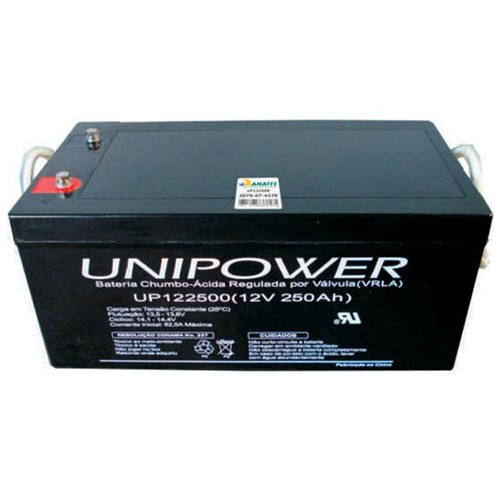Bateria Selada VRLA 12V 250AH M8 UP122500 RT 06C075 - Unipower