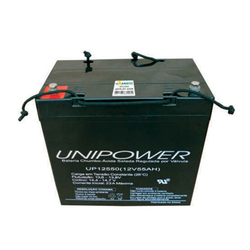 Bateria Selada VRLA 12V 55,0Ah M6 UP12550 RT 06C047 - Unipower