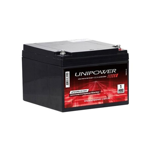 Bateria Selada VRLA 12V 26,0AH M5 UP12260 RT 06C035 Unipower