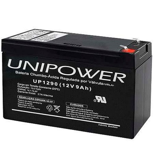 Bateria Selada VRLA 12V 9,0Ah F187 UP1290 – Unipower