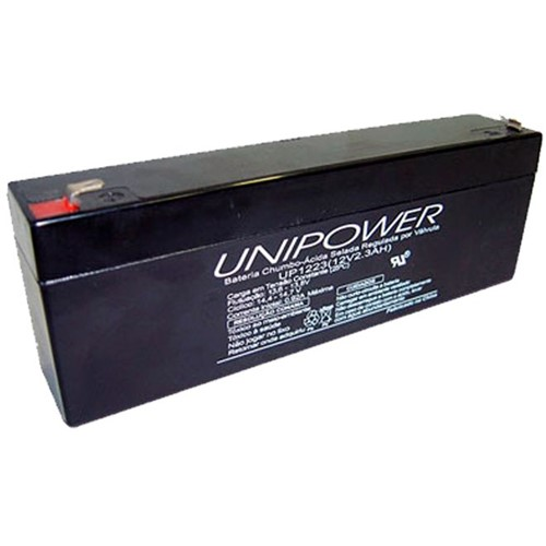 Bateria Selada VRLA 12V 2,3Ah F187 UP1223 - Unipower