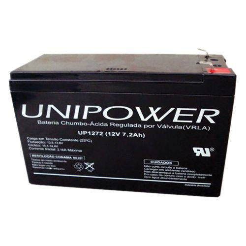 Bateria Unipower Up 1272 12v 7.2ah F187 não Automotiva