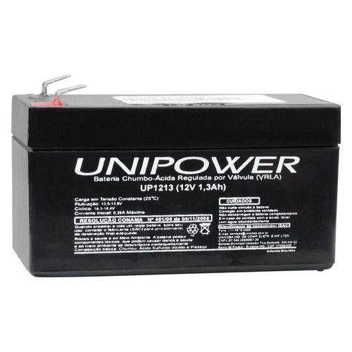 Bateria Unipower UP1213 12V 1.3Ah F187 não Automotiva