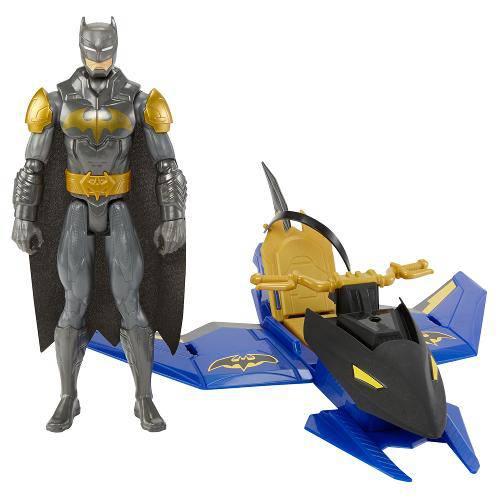Batman com Veículo Batman e Batjet/Batnave - Mattel