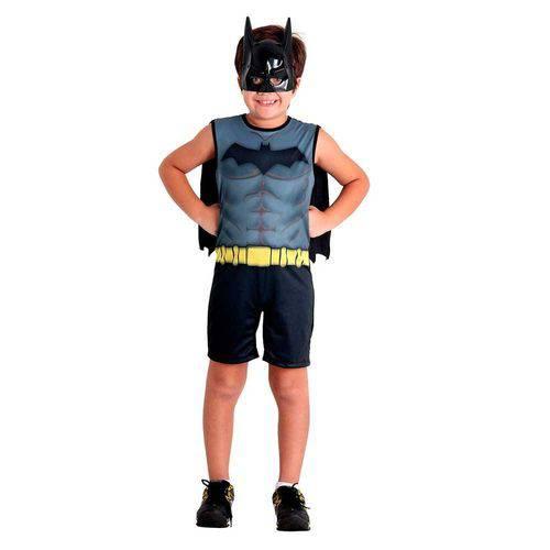 Fantasia Batman Infantil com Capa e Máscara Original DC Comics