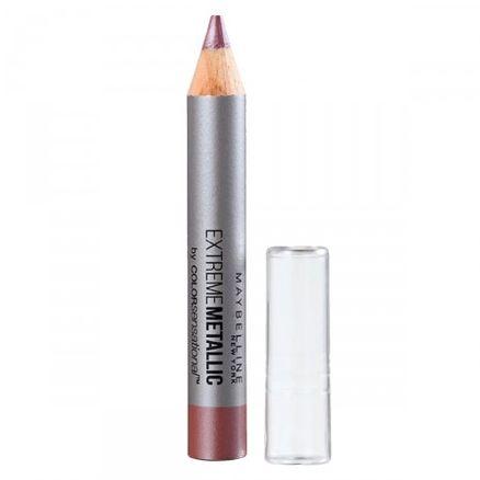 Batom Lápis Maybelline Color Sensational Extreme Metallic Cor 140 Aceita