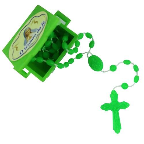 Baú com Terço de Plástico   SJO Artigos Religiosos
