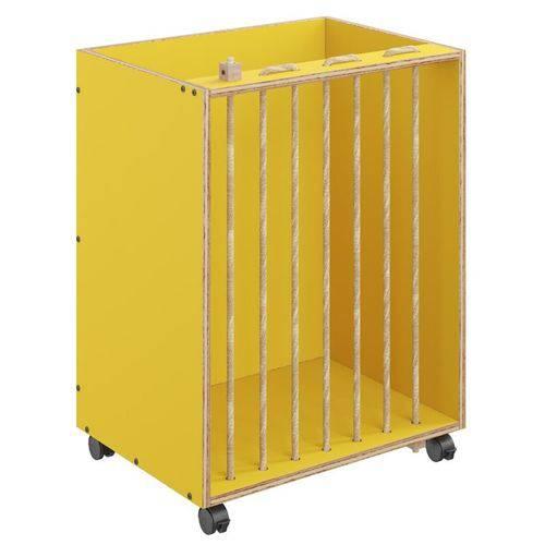 Baú Organizador Cordel 1005 com Rodízios Amarelo - Be Mobiliário