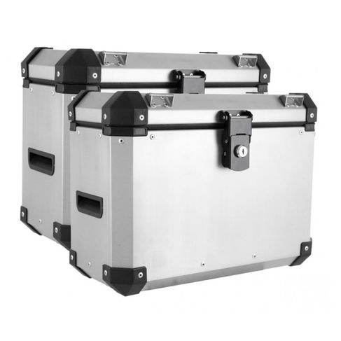 Bau Roncar Adventure Lateral 33L Aluminio Escovado Universal (PAR)