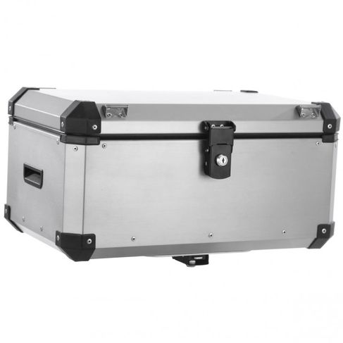 Bau Roncar Adventure Traseiro 56L Universal Alumínio Escovado ( 1 Unidade )