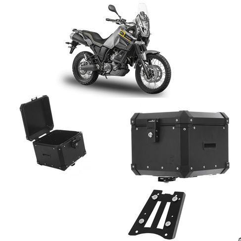 Bau Roncar Adventure Traseiro 35L Alumínio Preto Yamaha Tenere 660 2012 em Diante + Base Fixa (1 Unidade)