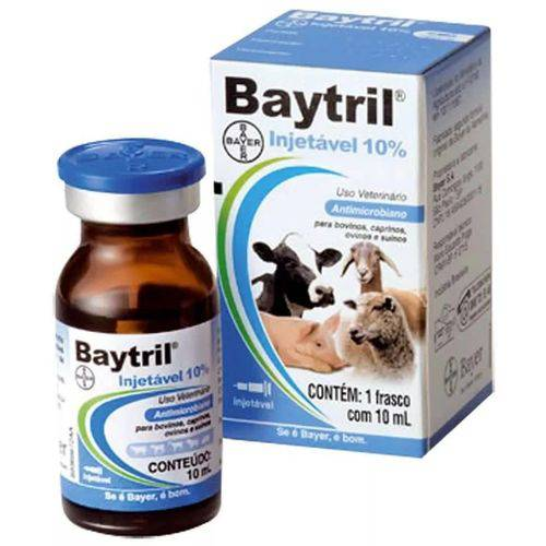 Baytril® 10ml Injetável 10% - Bayer