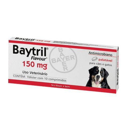Baytril 150 Mg- 10 Comprimidos