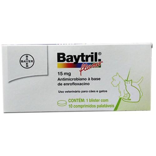 Baytril 15mg - 10 Comprimidos