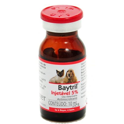 Baytril 5% Injetável Uso Veterinário 1 Frasco Ampola de 10ml