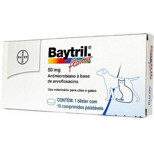 Baytril 50 Mg- 10 Comprimidos
