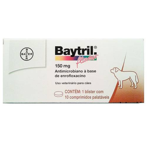 Baytril Flavour 150 Mg 10 Comprimidos
