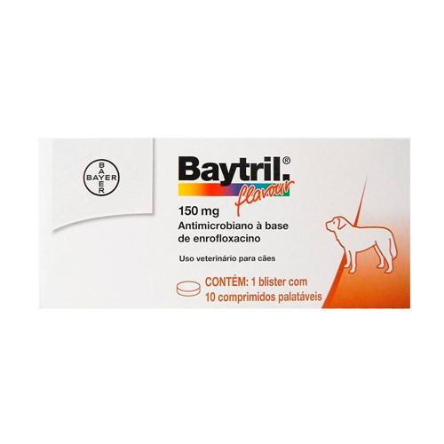 Baytril Flavour 150mg para Cães Uso Veterinário com 10 Comprimidos