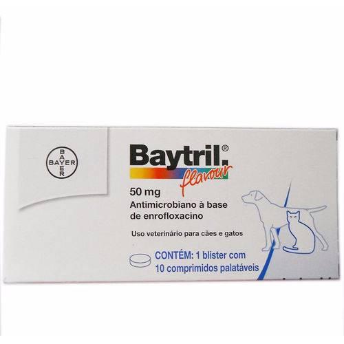 Baytril Flavour 50 Mg 10 Comprimidos