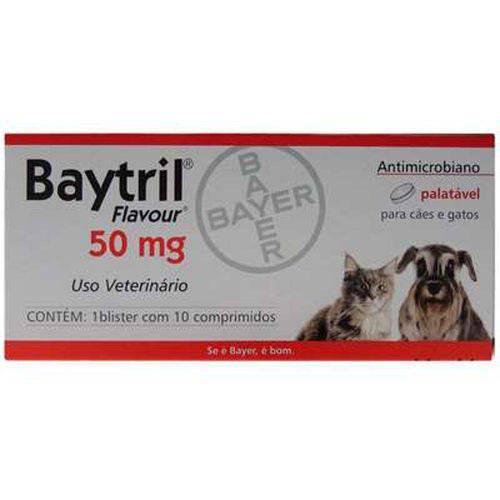 Baytril Flavour 50mg com 10 Comprimidos