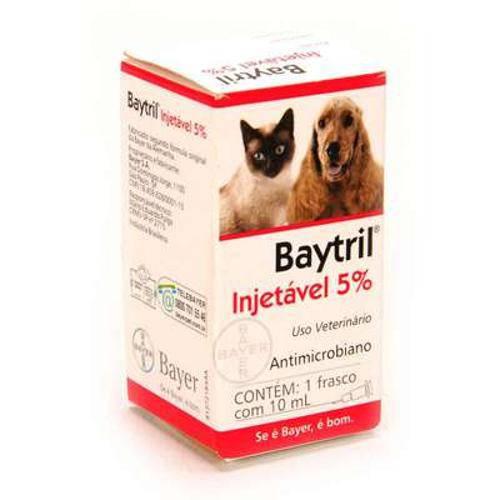 Baytril Injetável 5 - 10ml